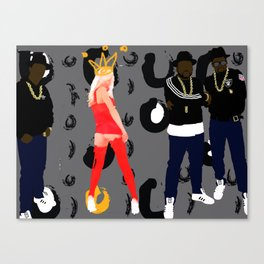 royalty & Run DMC Canvas Print