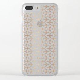 Hive Mind - Rose Gold #113 Clear iPhone Case