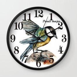 Parus Major Wall Clock