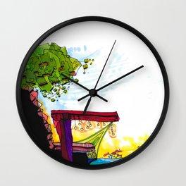 Gypsy River Architectural Illustration 89 Wall Clock
