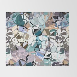 Abstract Geometric Shapes Throw Blanket