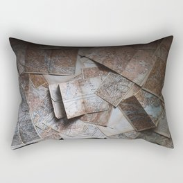 Maps On Maps Rectangular Pillow
