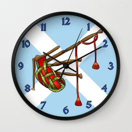 bagpipe-knot Wall Clock