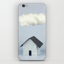 A cloud over the house iPhone Skin