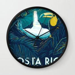 costa rica rainforest Wall Clock