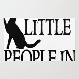 Cats are little people... Rug