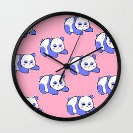 For the sleepy pandas Wall Clock