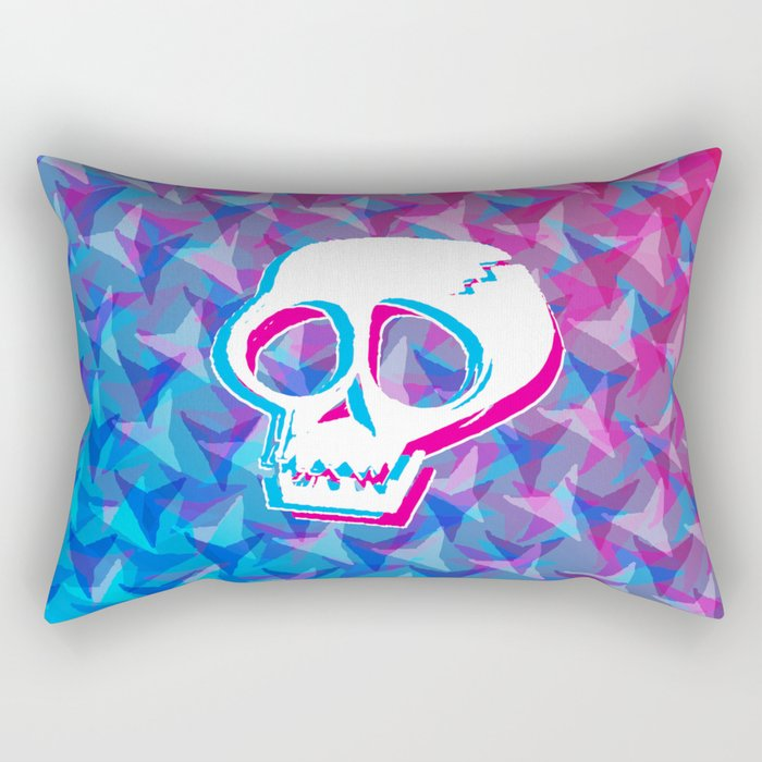 Cracked Skull Rectangular Pillow