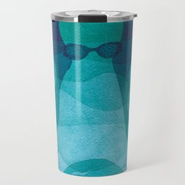 Octopus, sea creature, animals, ocean watercolor teal blue Travel Mug