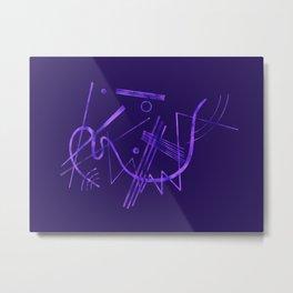 Kandinsky - Purple Abstract Art Metal Print