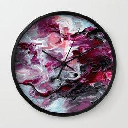 Raspberry Marble Wall Clock