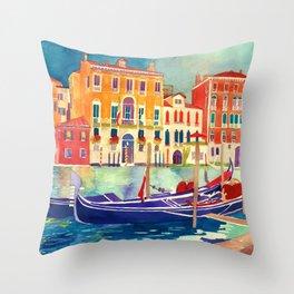 sunshine in Venezia Throw Pillow