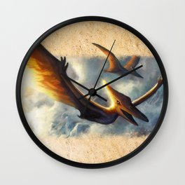 Pterodactyl Coming Back to Life Wall Clock