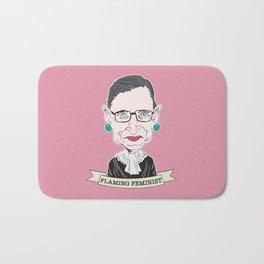 Ruth Bader Ginsburg The Notorious RBG Flaming Feminist Bath Mat