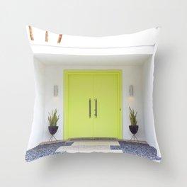 Lime Door Palm Springs Throw Pillow