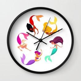 Mermaid raibow! Wall Clock