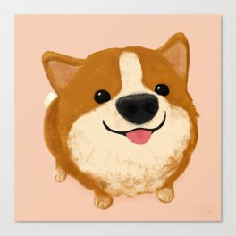 Corgi [boop the snoot!] Canvas Print