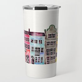 Rainbow Row – Charleston Travel Mug