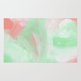 Coral Mint Abstract Rug