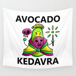 Avocado Kedavra - Death Eater Avocado with Wand Wall Tapestry