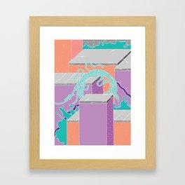 Between the Slabs by Infinite Bound Framed Art Print