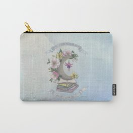 Freedom, Books, Flowers and The Moon Carry-All Pouch