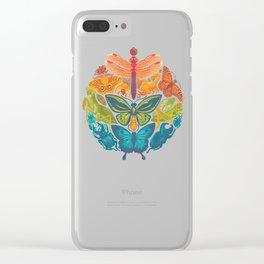 Bugs & Butterflies Clear iPhone Case