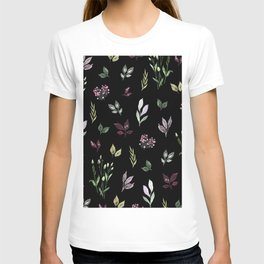 Tiny watercolor leaves pattern T-shirt