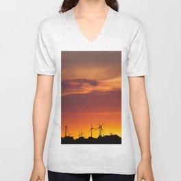 Wind Power Unisex V-Neck