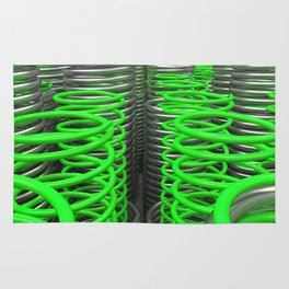 Plastic and metal springs and coils Rug