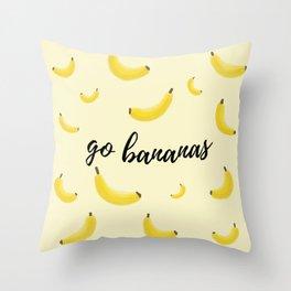 Go Bananas Throw Pillow