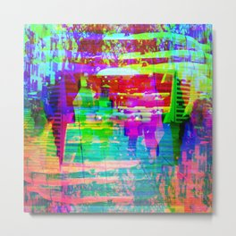 Recalls abstract machination but lunges at sooner. Metal Print