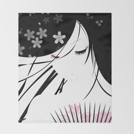 Asian Obsession Throw Blanket