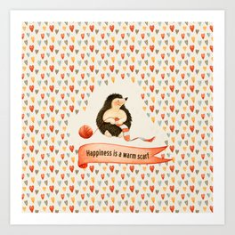 Happiness is a warm scarf Art Print