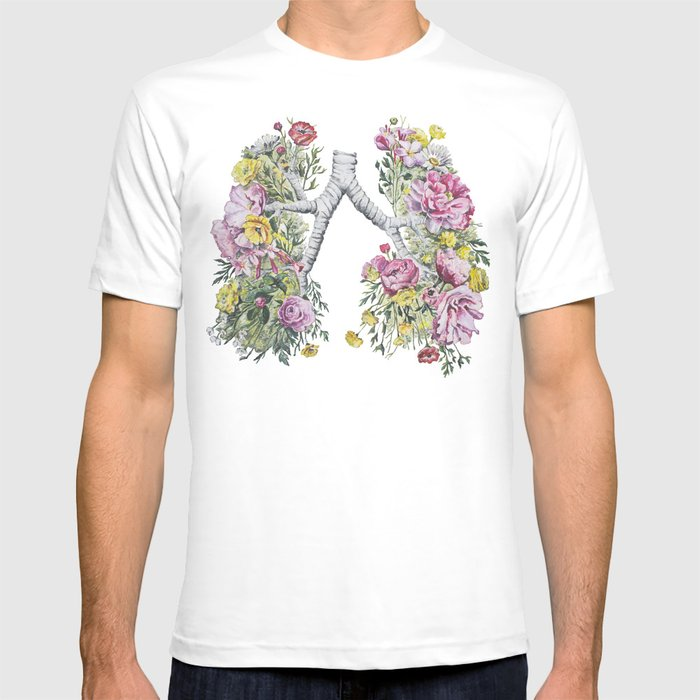 Floral Anatomy Lungs T-shirt by trishathompson | Society6
