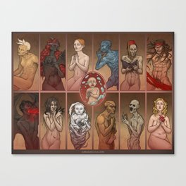 Isaac and the Sinners Canvas Print