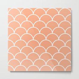 Scales - pink Metal Print