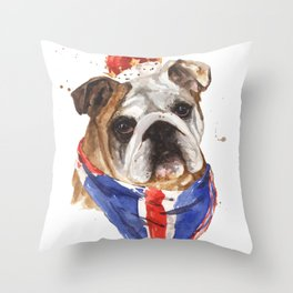 British Bulldog Throw Pillow