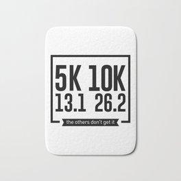 5K 10K 13.1 26.2 Runners Running Marathon Race Bath Mat