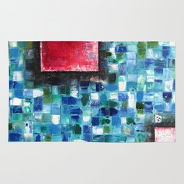 """Mosaic Squared"" Rug"