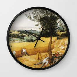 The Harvesters by Pieter Bruegel the Elder, 1565 Wall Clock