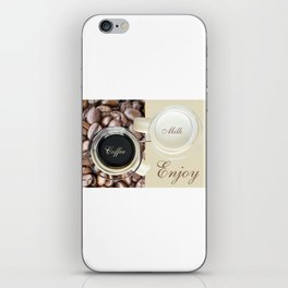 Coffee and milk iPhone Skin