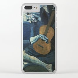 The Old Guitarist Clear iPhone Case