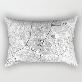 Austin White Map Rectangular Pillow