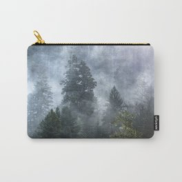 Smoky Redwood Forest Foggy Woods - Nature Photography Carry-All Pouch