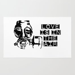 Love is in the air gas mask Rug