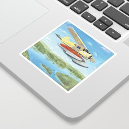 float plane - by phil art guy Sticker