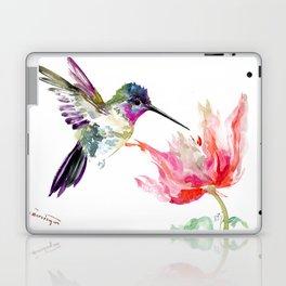 Little Hummingbird and Big Flower Laptop & iPad Skin