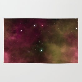 Pink Space Galaxy Rug
