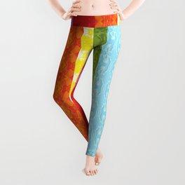 TorsoPattern Gay Pride Flag (Original 8-Color) Leggings